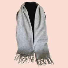 James Davis Heather Grey Cashmere Scarf