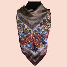Vintage Tiger Lilly Scarf in Fall and Winter Colors