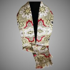 1960s Designed Emily Wetherby Silk Double Sided Scarf