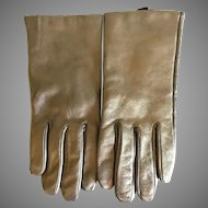 Ladies Bronze Leather and Cashmere lined Gloves