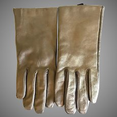 Bronze Leather Cashmere lined Gloves