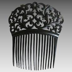 Vintage Black Hair Comb Spain