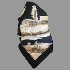 Vintage Venice Italy 100% Polyester Scarf