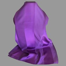 Vintage Made in Italy Plum Rectangular Polyester Scarf