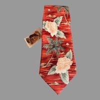 Vintage Silk Tommy Bahama Hawaiian Print Necktie