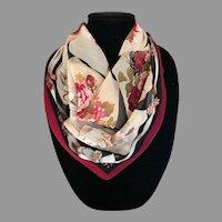 Vintage Jacqueline Ferrar Silk Chiffon Victorian Roses Motif