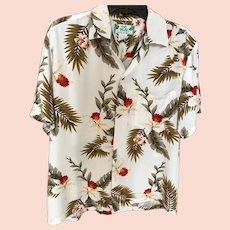Vintage Two Palms Hawaiian Aloha Shirt SZ Medium