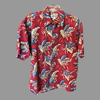 Vintage Pure Cotton Hawaiian Aloha Shirt SZ L