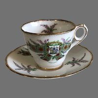 Vintage Royal Stafford MacLean Tartan Series Bone China Tea Cup and Saucer