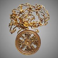 Rare Vintage Neiman Marcus Gold Plate Necklace Ccori of Peru