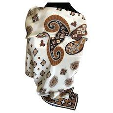 Vintage Adrienne Vittadini Southwestern Design Pure Silk Scarf