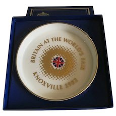 Royal Daulton 'Britain at the Worlds Fair' Dish Knoxville 1982 Original Box