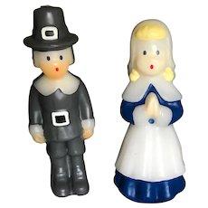 Vintage Pilgrim Boy and Girl Candles