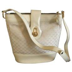Vintage Cream Colored Gucci Handbag / Purse