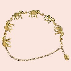 Gold Plate   Metal Elephant Belt