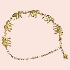 Gold Plate   Metal Elephant Belt
