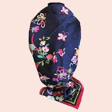 Vera Bradley Silk Twill Scarf / Floral & Butterflies