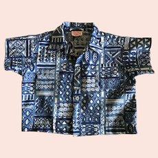 Vintage Baby Hawaiian Aloha Shirt Made in Hawaii