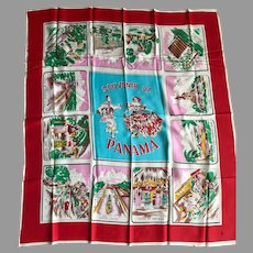 Mid-Century Travel Scarf from Panama