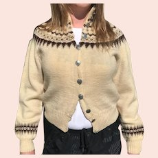 Vintage William Schmidt Norwegian Wool Ski Sweater