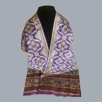 Vintage Oscar de La Renta Moroccan Motif Silk Scarf