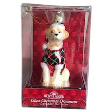 Kurt Adler Labrador Retriever Glass Christmas Ornament
