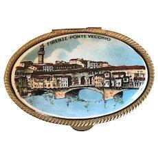 Vintage Miniature Pill Box Firenze - Pointe Vecchio Italy
