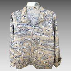Rare Vintage Lilly Pulitzer Mens Stuff Cruise Wear Jacket