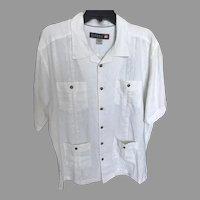Vintage White Linen Waterman Shirt by Quicksilver