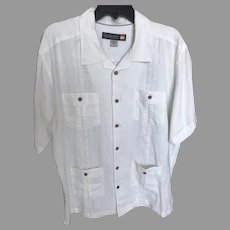 Vintage White Linen Waterman Shirt by Quicksilver