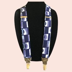 Vintage Silk Suspenders / Braces by Artnova