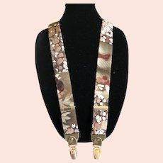 Artnova Vintage Silk Suspenders / Braces