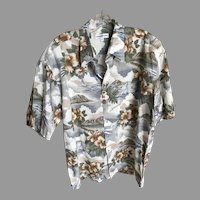 Rare Vintage Pierre Cardin Hawaiian Shirt Diamond Head XL