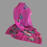 Beautiful Silk Blend Butterflies Scarf or Wrap
