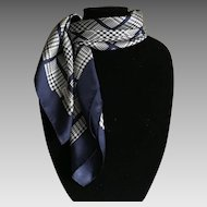 Vintage Navy and White Coach silk scarf