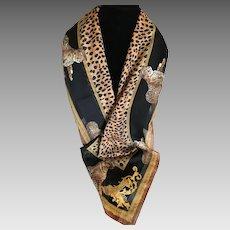 Vintage leopard Motif Scarf