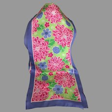 Lilly Pulitzer Silk  Breast Cancer Awareness Scarf