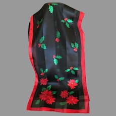 Lovely 100% Easy Care Polyester Christmas Scarf