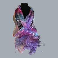 Sheer Silk Diaphanous Wrap or Scarf