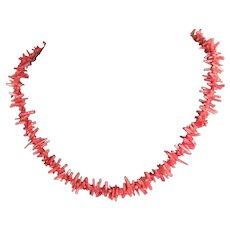 Stunning Vintage Natural Branch Coral Necklace