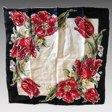 Vintage Cotton Tulip Handkerchief