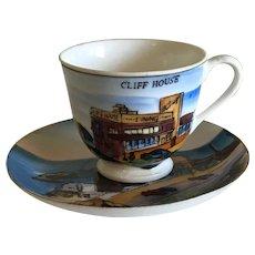 1950s Cliff House San Francisco CA Souvenir Cup and Saucer