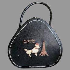 Vintage Small Hat Box Style Paris Handbag / Purse