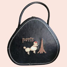 Vintage Small Hat Box Style Paris Handbag / Purse