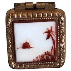 Vintage Tiny Hand Painted Photo Box