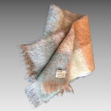 Vintage mohair scarf made in Scotland Thorn-Craft