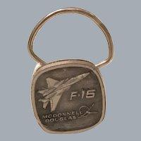 Vintage Commemorative McDonnell Douglas F-15 Metal Key Ring