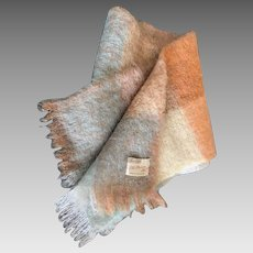 Vintage mohair scarf made in Scotland by Thorn-Craft