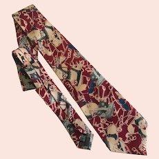 Vintage Jean Paul Gaulltier Pop Art Avant Garde Necktie