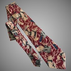 Vintage Jean Paul Pop Art Avant Garde Necktie
